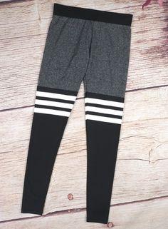 Women's Skinny Color Block Striped Ankle Sports Leggings