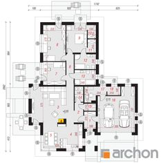 Dom w amarantusach Plot Ideas, Modern Architecture House, My House, Floor Plans, Houses, Projects, Homes, House, Computer Case