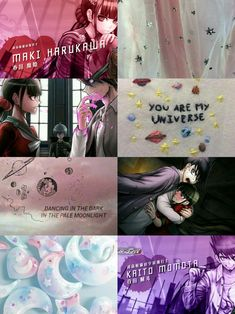 Kaito x Maki aesthetic Kaito, Character Aesthetic, Aesthetic Anime, Celine, In The Pale Moonlight, Mikan Tsumiki, Dancing In The Dark, The Darkest, Universe