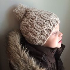 A personal favorite from my Etsy shop https://www.etsy.com/listing/244257454/cable-stitch-crochet-baby-beanie