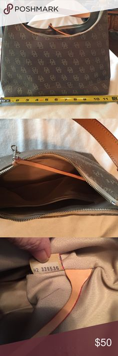 "Dooney & Bourke taupe purse D&B taupe purse, 11-1/2""x8""x3-1/2"" with 9"" shoulder drop strap, wear on bottom corners & a few water spots. Dooney & Bourke Other"