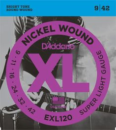 The D'Addario EXL120 ... just rolled into our store! Give it a look! http://matts-music-store.myshopify.com/products/daddario-exl120-nickel-wound-super-light-9-42-electric-guitar-strings?utm_campaign=social_autopilot&utm_source=pin&utm_medium=pin