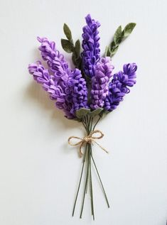 Lavender Bouquet / Bluebonnets / Felt Flower Bouquet / Wedding Bouquet / Wedding Decor
