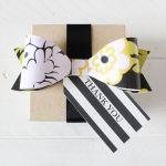 Free Printable Whimsical Botanical Bow from printableweddings.com