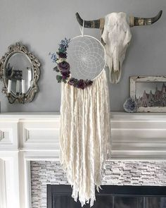 Boho Decor - Bohemian Dreamcatcher - Rose Decor - Dream Catcher - Large Dreamcatcher - Boho Chic Decor The Camilla dreamcatcher is an elegant and beautiful wall hanging. The web is lovingly hand woven in cream thread, perfectly blending with the off white
