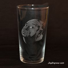 The Master of Suspense, director of psychological thrillers. Most famously known for the 1960 film Psycho and the 1963 movie The Birds, Sir Alfred Hitchcock. Glass Engraving, Hand Engraving, Alfred Hitchcock, Thrillers, 8 Hours, Dremel, Pint Glass, Initials, Birds