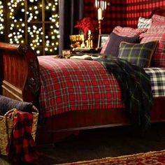 """I want THIS to be my Christmas Bed! It reminds me of the North Pole bed in """"The Santa Clause."""""""