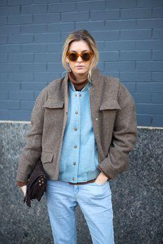 The Best New York Fashion Week Street Style: Fall 2015  - HarpersBAZAAR.com