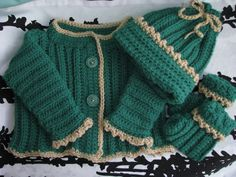 Sparkly Green Baby Sweater Baby Sweater by TillieLuvsTreasures