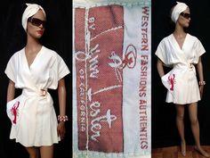 Vintage 1940's Lynn Lester Lobster Dress Shorts Bandeau Top Surreal Couture
