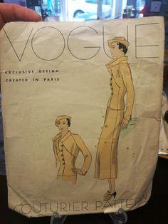 Vogue Couturier Pattern 297 | 1930s Suit