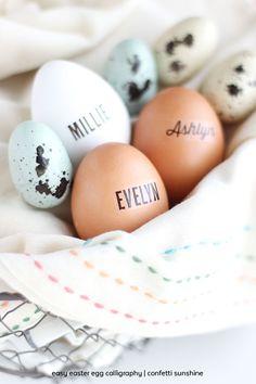 Easy Easter Egg Calligraphy | confetti sunshine