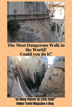 The Most Dangerous Walk in the World. Caminito del Rey in Malaga, Spain. The history of the walk. Our guest travelers experience. Travel tips for going on the Caminito del Ray walk. Best Travel Guides, Travel Tips, Travel Around The World, Around The Worlds, Malaga Spain, Online Travel, Travel Magazines, Worldwide Travel, Spain And Portugal