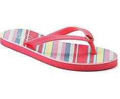 Seabury Thong Sandal, Pink / Lime Stripe, dynamic