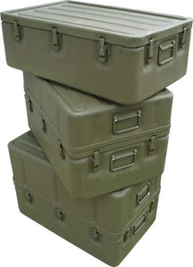 Medical Transport Chest, U.S. G.I. Aluminum and other uses for supplies. How to Hide and Recover Your Survival Cache (Ideal Container Image)