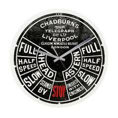 Chadburn Ship Telegraph Frameless Wall Clock> Clocks> Cream Tees