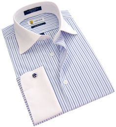 If you are looking for a quality dress shirt with knot cufflinks at an affordable price, then check out Labiyeur Men's Slim Fit, French Cuff, Blue/White Striped, Dress Shirt. Also included are FREE SHIPPING and 30-DAY MONEY BACK GUARANTEE on ALL of your purchases!