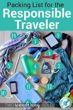 Packing List for the Responsible Traveler: Lessen your footp. - Fashion - Packing List for the Responsible Traveler: Lessen your footp. Packing List for the Responsible Traveler: Lessen your footprint on the Earth with these handy travel products. Packing List For Travel, Travel Tips, Travel Hacks, Travelling Tips, Travel Articles, Time Travel, Travel Guides, Travel Photos, Responsible Travel