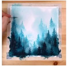 Watercolor Paintings For Beginners, Watercolor Art Lessons, Canvas Painting Tutorials, Watercolor Landscape Paintings, Diy Canvas Art, Watercolor Techniques, Watercolor Landscape Tutorial, How To Watercolor, Watercolor Night Sky