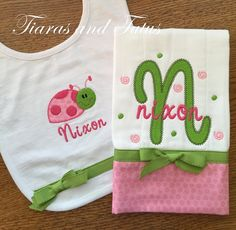 Image result for free diy burp cloth pattern embroidery pink ladybug burp cloth personalized baby gifts baby gift burp cloths embroidered burp cloth ladybug pink and green negle Gallery