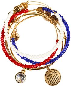 Alex and Ani Team Usa Shield Set Of 5 - Russian Gold - Polyvore