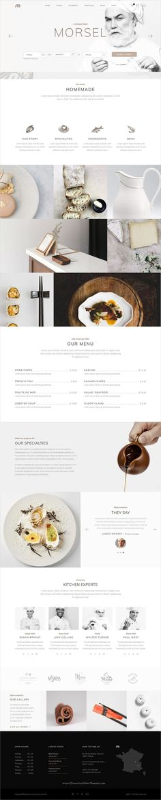 Morsel is clean and modern design responsive #WordPress theme for delicious #restaurant and #cafes website with 12 fully adaptable homepage layouts download now..