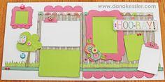 Two Page Scrapbook Layout Lollydoodle Girl Friends BFF Cricut CTMH #scraptabulousdesigns #cricut #ctmh