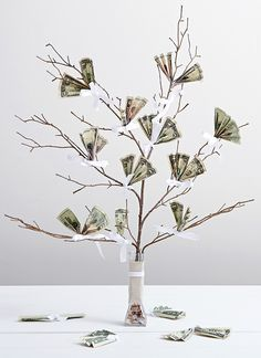 Money tree gift | Wedding Gifts | Pinterest | Money trees and Crafts