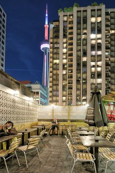 Patio at N'awlins by Pavel Voronenko Cn Tower, Toronto, Patio, City, Building, Fun, Photography, Travel, Photograph
