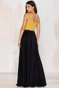 Great Lengths Pleated Maxi Skirt - Skirts