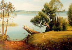 Белое озеро: холст, масло, 60x80, 1995