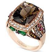 Le Vian 14k Rose Gold Ring, Smokey Quartz and Multistone Ring (7-1/3 ct. t.w.)