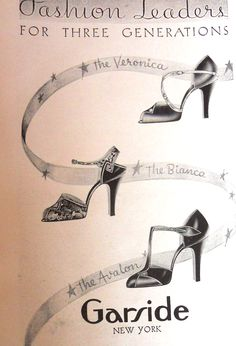 shoes, Vogue magazine catalogues show heels at a inch regulation height in until around 38 to 39 when they suddenly go up yo sexier heights you find in the Retro Heels, Vintage Heels, 1930s Fashion, Vintage Fashion, Women's Fashion, Vintage Clothing, Vintage Outfits, Shoe Ads, 1930s Shoes