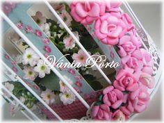 Simples assim...: Festa Jardim da Nicole. Gaiola com mini flores em EVA