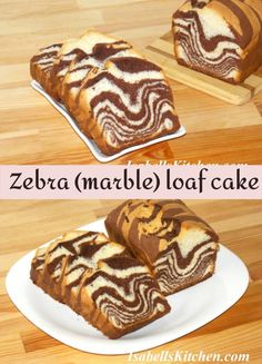 Zebra (marble) loaf cake (video recipe) - isabell's kitchen Best Breakfast Recipes, Brunch Recipes, Dessert Recipes, Desserts, Savoury Baking, Loaf Cake, International Recipes, Recipe Of The Day, Creative Food
