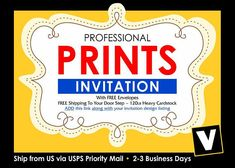 Professionally Printed Save the Date (Free Back Side Printed) + FREE Envelopes - Ship via USPS Priority Mail Bus. Days Tracking # by on Etsy Print Thank You Cards, Glitter Invitations, Birthday Invitations, Wedding Rsvp, Free Prints, Save The Date Cards, Printing Services, Invitation Design, Priority Mail