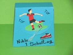 Glückwunschkarten - Einschulung Tischdeko Tornister Mein 1. Schultag - ein Designerstück von Wonderful-Paper-Art bei DaWanda