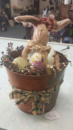 Primitive Easter/Spring Decoration  Rusty by SpareThymeSisters, $26.00