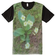primrose Flower All-Over-Print T-Shirt - click/tap to personalize and buy Types Of T Shirts, Stylish Shirts, S Shirt, Funny Tshirts, Prints, Mens Tops, How To Wear, Flower, Fashion Design