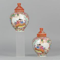 Ca 1950-1960 PROC Period Chinese Porcelain Vases Beautiful and very nice decorated vase from the ealry ProC period. Absolutely top Quality work and very rare. In recent years these early PRoC wares have risen sharply in market price. And with reason, they are of very high quality and original. The best quality we have ever had.