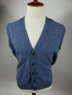 Banana Republic Button Front Cotton Vest Sweater Solid Brown Men ...