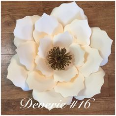 """*Will be on vacation from 2-20-2018 to 3-15-2018 . all orders done between these dates will be shipped 6 to 10 days after return date of 3-15-2018. Thank you * With template number #16 (Deverie) you can create this gorgeous 16"""" flower for your next event."""