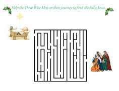 A fun maze to teach your children about the Magi who brought gifts to the baby Jesus.