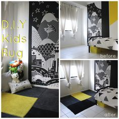 D.I.Y Rug using Kmart / Ikea bath mats - perfect for a kids room or play room!