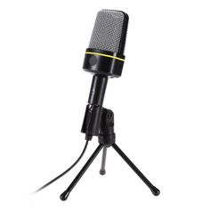 Professional Condenser Wired Computer Microphone Mic + Desttop Tripod Stand for PC Laptop Notebook Studio Recording #Affiliate