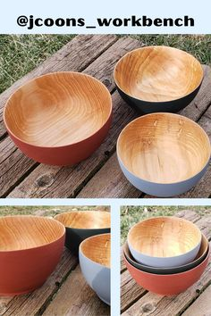Let's take a moment to appreciate these absolutely flawless basswood bowls. These were created by @jcoons_workbench and finished with food contact safe Pure Tung Oil and Real Milk Paint. Real Milk Paint is a great way to add color as it is VOC-free, non-toxic, and made of 100% all-natural ingredients. Pure Tung Oil is the perfect sealer as it is also non-toxic, food contact safe, and is a durable wood finish. Pure Tung Oil, Real Milk Paint, Absolutely Flawless, Diy Food, Natural Wood, Bowls, Pure Products, Antiques, Tableware