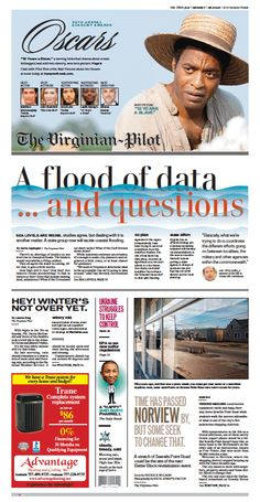 The Virginian-Pilot front page for Monday, March 3, 2014.