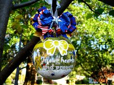 Yellow Ribbon Military Support Our Troops by frecklefoxboutique, $14.99