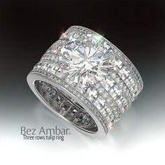 Wide Wedding Rings With Diamonds Diamond Jewelry, Jewelry Rings, Jewelry Accessories, Fine Jewelry, Jewellery Stand, Jewellery Shops, Wide Band Diamond Rings, Jewellery Designs, Schmuck Design