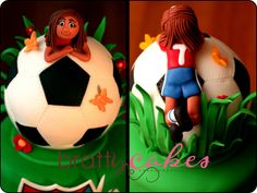 Giant Soccer Ball by Natty-Cakes.this would be cool if it was a volleyball 10 Birthday Cake, Soccer Birthday Parties, Soccer Party, 10th Birthday, Soccer Ball Cake, Soccer Cakes, Football Cakes, Cupcakes, Cupcake Cakes